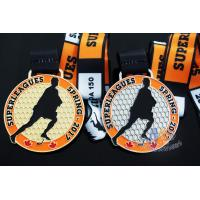 Best 10k Custom Sports Medals With Soft Enamel Sublimated Ribbon For Canada Hockey Baseball Racking wholesale