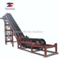 China Industrial Heat Resistant Rubber Sidewall Conveyor Belt System Custom Acceptable on sale