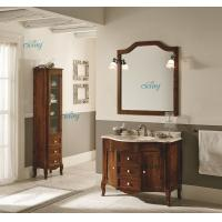 Waterproof Solid Wood Transitional Bathroom Vanities With Left Or Right Side Cabinet