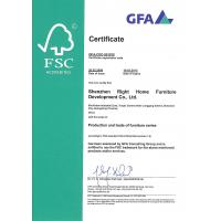 Shenzhen RightHome Furniture Development Co., Ltd Certifications
