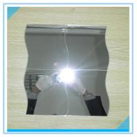 China Bevelled Edge Arch Oval 6mm Processed Mirror Glass Sinoy , Flat Bathroom Mirror on sale