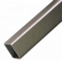 China Mill Finished Round Corner 0.7mm Aluminium Rectangular Tube on sale