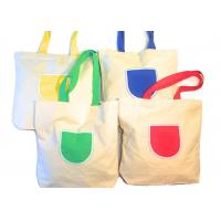 China Canvas Tote Shoulder Bags Reusable Beach Bags , Grocery And Shopping Bags on sale