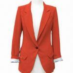 Best Women's coat/slim jacket, nice pattern, bright color wholesale