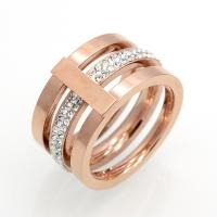 Best new desgn high polished stainless steel jewelry ring 18k Gold Ring with Cubic Zirconia CZ wholesale