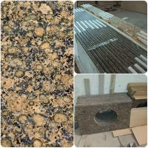 China Modern Design Custom Granite Countertops , Brown Granite Bathroom Worktops on sale