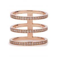 Best Three Row Zircon Paved Modern Jewelry Rings New Trendy Girl Knuckle Ring wholesale