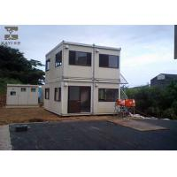 Best Glass Wool Double Container House Non - Combustible With Platform and Stairs wholesale