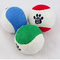 Best 3inch pet toy tennis ball with custom logo printed wholesale