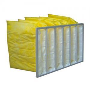 Best Yellow Color Chemical Resistance F9 Aluminum Frame Bag Filter / Pocket Air Filter wholesale