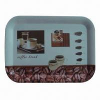 Best Rectangular Melamine Serving Trays with Handle, Customized Designs and Artworks are Welcome wholesale