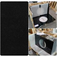 China Black Natural Granite Countertops , High Density Solid Black Granite Countertops on sale