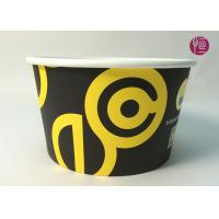 Best 185mm Round Printed Paper Salad Bowls Take Away With PET Lid wholesale