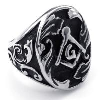 Best Tagor Jewelry Super Fashion 316L Stainless Steel Casting Rings Collection PXR021 wholesale