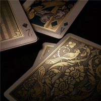 Best Print 100% Durable Waterproof Plastic Playing Cards 24K Gold Foil Plated wholesale
