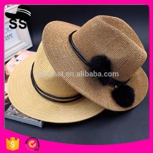 China 2017 Fabrics Used Make Cheap Panama D30cm 60g China Cowboy Paper Women Summer Straw Hats on sale
