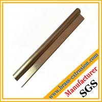 Best fine satin surface brushed wire drawing finishing brass profiles of key lock cylinder wholesale