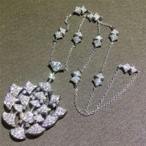 Fan Shape Women'S Bvlgari Diva'S Dream Luxury Diamond 18k White Gold