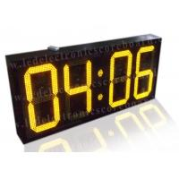 Best 20 Inch Yellow Color Commercial Digital Clock , Led Display Clock 88 / 88 Format wholesale