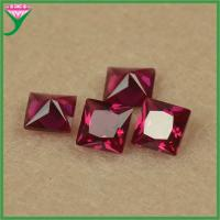 Best wholesale ruby corundum price per carat square princess cut corundum stone price wholesale