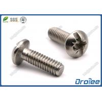 China 304/316 Stainless Steel Pozi Slotted Combo Drive Round Head Machine Screw on sale
