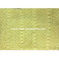 Best 50 Yellow Polyester Guipure Lace Trim Crochet For Clothes Accessories wholesale