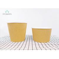 Best Ripple Paper Brown Takeaway Food Containers Soup Cups Eco - Friendly wholesale
