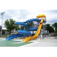 Best Playground Swimming Pool Water Curved Slide wholesale