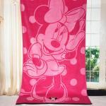 Best Plain Woven Jacquard Beach Towel Minnie Mickey Mouse Reactive Printed wholesale