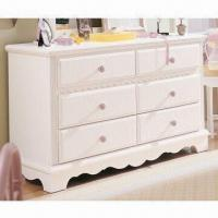 China Bedroom Dresser with Six Drawers, Solid Wood Drawer Front and Plywood Carcass on sale