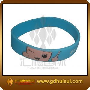 Best round blue silicone bead bracelet wholesale