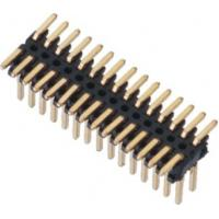 SMT LCP 0.80*1.20 Pin Header Black Dual row  With CAP H=1.4 Reel packing Gold flash ROHS