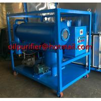 China Horizontal Vacuum Dielectric Oil Purifier, SIngle Stage Vacuum Transformer Oil Purifier, Oil Purification plant supplier on sale