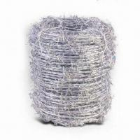 Best High-resistant Barbed Wire with Hot-dipped Galvanized Finish and 100 to 120kg Tensile Strength wholesale
