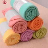 Best Portable Soft Travel Blanket Solid Color Polar Fleece With belly cards package wholesale