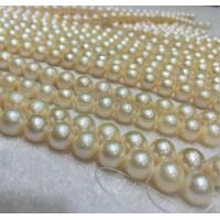 Best 10-11mm round white Slightly natural freshwater pearl wholesale