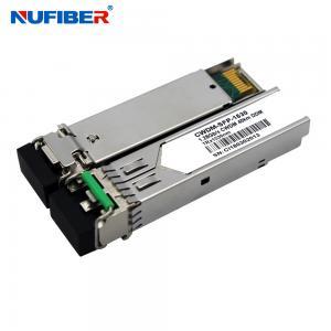 Best 1.25Gb/s 40km CWDM SFP Transceiver Duplex LC 1270nm-1610nm SM DDM wholesale