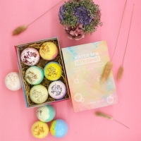 China 6 Organic & Natural Bubble Bath Bomb Gift Set Rich in Essential Oil/Coconut Oil/Grape Seed Oil Fizzy Spa Moisturize Skin on sale