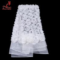 Best Fashion Dribbling Embroidered Lace Fabric / Lace Netting Fabric wholesale