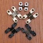 Best Cabinet Style 180 degree zinc alloy invisible folding door cross hidden hinges wholesale