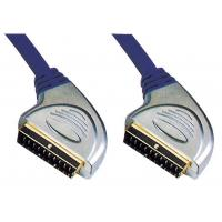 China High Quality Metal Scart Plug to Scart Plug cabel for Euro DVD Set-top box TV etc on sale