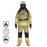 Best Nomex Material Firefighter Suit , Navy Color Waterproof Fireproof Suit wholesale