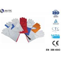 Cheap Leather Heat Resistant PPE Safety Gloves Soft High Dexterity For Welding Oven for sale