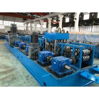 Buy cheap 2.0 - 5.0mm Steel Purlin Roll Forming Machine with Gear Box Wire - electrode structure product