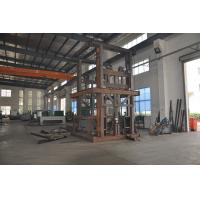 China 0.5T 4.5m Guide Rail Elevator Shear Fork Lift Platform with Emergency Stop Button for Cargo on sale