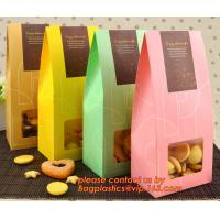 Cheap Customize Translucent Window, Brown Greaseproof Kraft Paper Bag, Special Opp Window Bag, window bags, paper window bags, for sale