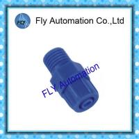 China Straight Type POM Pneumatic Tube Fittings Screw Tighten on sale