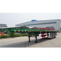China Flat-bed Semi Trailer Truck 3 Axles 30-60Tons 13m for Container Loading on sale
