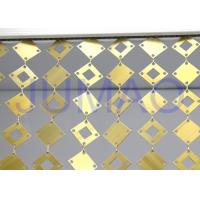 China Geometrical Plates Decorative Metal Curtains Gold Round Plates For Interior on sale