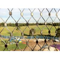 China Diamond Shape Stainless Steel Wire Rope Mesh Net For Animal Cages / Bird Netting on sale